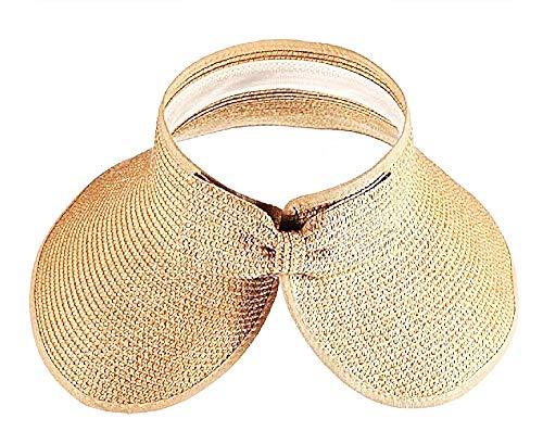Inception Pro Infinite kapelusz słomkowy – wizjer – szerokie rondo – plaża, morze – podwinięty – parasol przeciwsłoneczny – składany – basen – lato – brązowy kolor