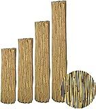 interGo Sichtschutzmatte, Schilfrohrmatte Premium 100x300cm (HxB), Sichtschutz aus dichtem Schilf, Schlfmatten für Balkon, offene Terrasse und Gartenzäunen