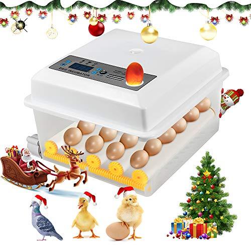 Kacsoo Incubadora de Huevos Digital Incubadora Automática de 16 Huevos con Control...