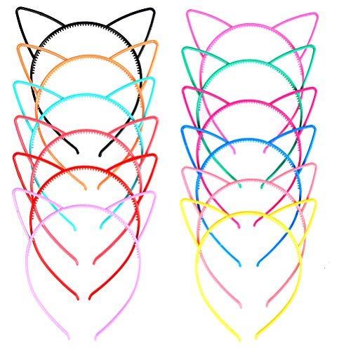 TIMESETL Diadema Orejas de Gato Niña 12 Colores Brillates Diadema de Gato...