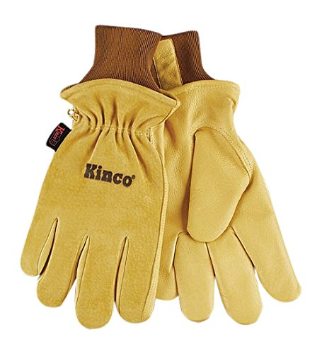 Limited time for free shipping KINCO Credence 94HK-L Men's Lined Grain Suede Keep Heat Gloves L Pigskin