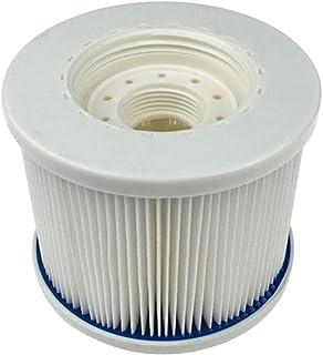 Smileyshy filtro de piscina, elemento de filtro de piscina hinchable, alta resistencia a altas temperaturas, filtro, herramienta de limpieza, color blanco