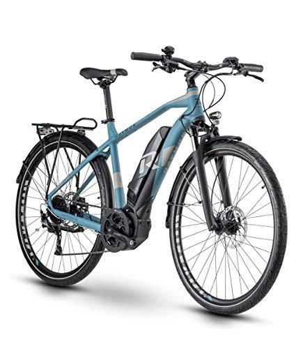 RAYMON Tourray E 5.0 Pedelec 2020 - Bicicleta eléctrica, color azul y gris, tamaño 60 cm, tamaño de rueda 28.0