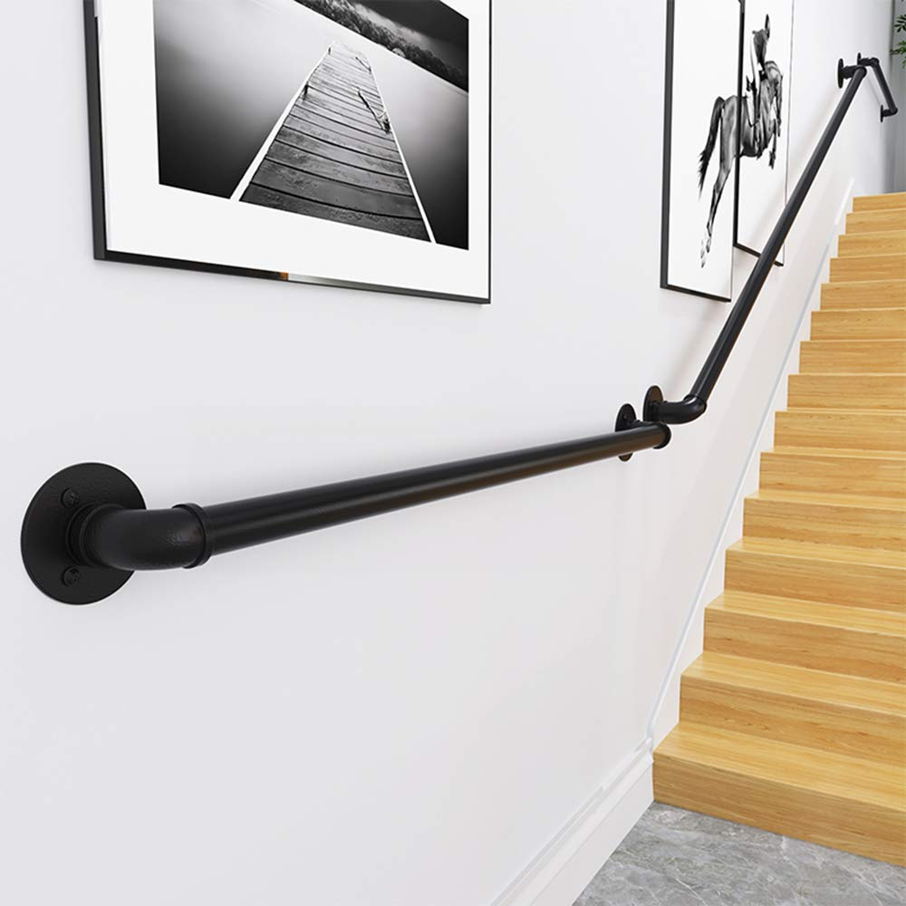Wall Mounted Home Garden Corridor Lofts Decking Railings Barrier-Free Staircase Grab Bar for Elderly Professional Pine Handrails Complete Kit CMMC Non-Slip Wood Handrails for Indoor Stairs