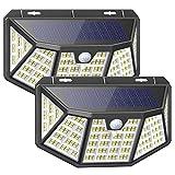 Luce Solare Esterno, 212LED Faretto solare, 3 Modalità Luci, IP65 Impermeabile, LED Luci Solari Esterno con Sensore di Movimento, 270° Cinque lati Illuminazione wireless Lampada Solare per Giardino