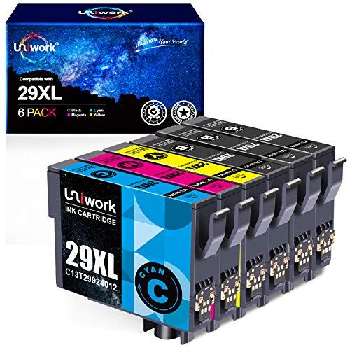 Uniwork Kompatibel für Epson 29 29XL Patronen für Epson Expression Home XP-235 XP-245 XP-247 XP-255 XP-257 XP-332 XP-335 XP-342 XP-345 XP-352 XP-355 XP-432 XP-435 XP-442 XP-445 XP-452 XP-455