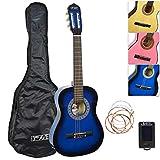 3Rd Avenue Guitarra Clásica para Niños, Principiantes, Azul, Tamaño 1/4