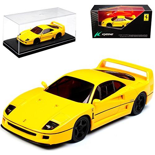 Kyosho Ferrari F40 Coupe Gelb 1987 -1992 1/43 Modell Auto