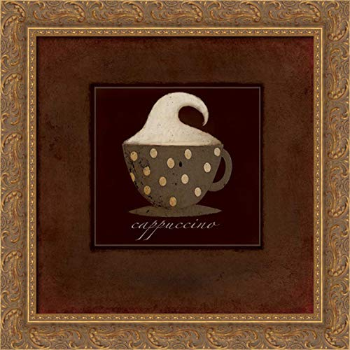 DiPaolo, Dan 20x20 Gold Ornate Framed Canvas Art Print Titled: Dark Cappuccino