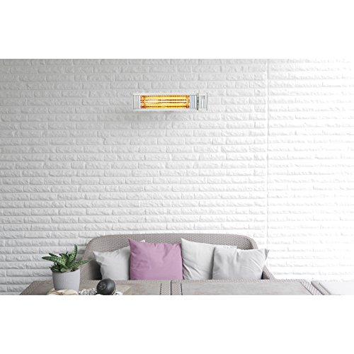 VASNER Infrarot-Heizstrahler Appino 20 weiß, App Steuerung, Fernbedienung, 2000 Watt, Terrassenstrahler elektrisch, Infrarotstrahler Terrasse außen, Bluetooth - 5