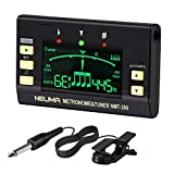 NEUMA Digital Metronome Tuner for Guitar, Bass, Violin, Ukulele, Chromatic and all Instruments, 3 in...