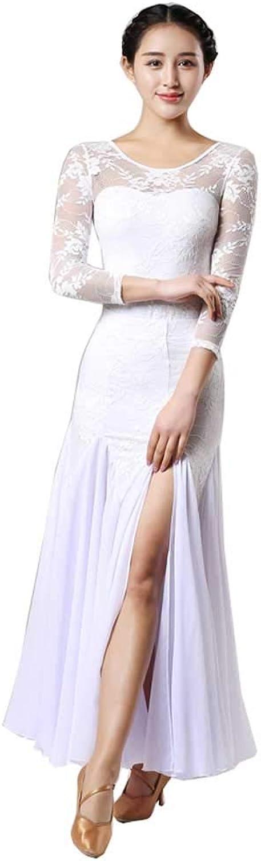 YTS Four Seasons White Cotton Dress, Open Fork Dance Suit