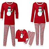 FELZ Pijamas Dos Piezas Familiares de Navidad Conjunto de Pijamas a Juego con la Familia de Navidad Muñeco de Nieve Navideño Impreso Manga Larga Tops y Pantalones Sudadera Chándal Suéter de Navidad