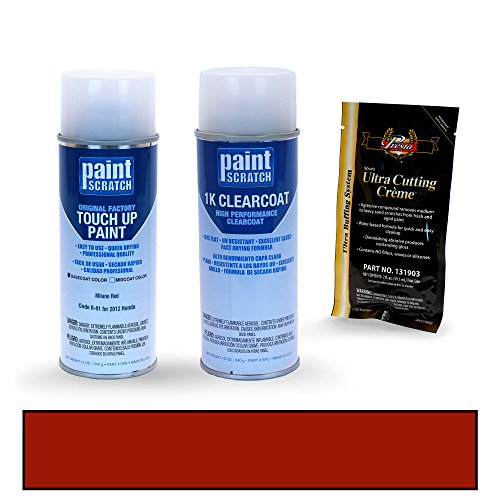 PAINTSCRATCH Touch Up Paint Spray Can Car Scratch Repair Kit - Compatible with 2012 Honda Insight Milano Red (Color Code: R-81)