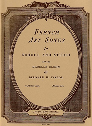 Price comparison product image French Art Songs for School and Studio