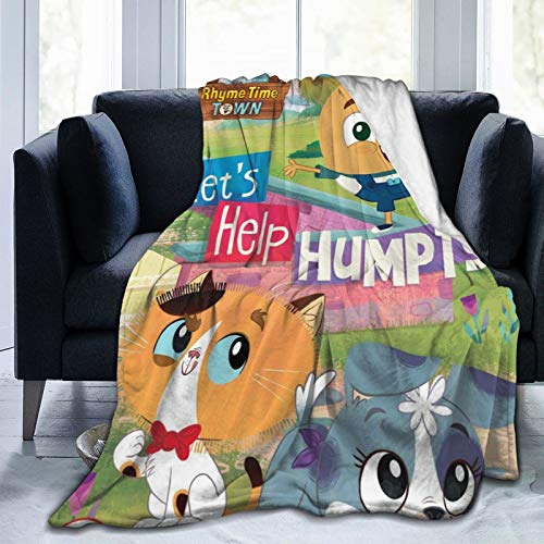 Keiou Rhyme Time Town 6 Novelty Blanket Fleece Throw Blanket Super Soft Lightweight for Youth