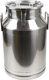 JHZDX Lait Boîte De Lait en Acier Inoxydable 40L Canister Canister Seau De Pot Laitier,40L/10.56 Gallon