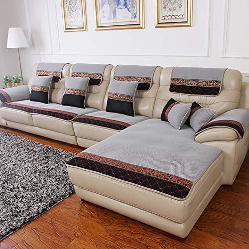Leder Sofabezug, Wasserdicht Schnitt Schutzhüllen Couch-abdeckungen Für Haustiere Hunde Nicht-Slip Möbel Protektor Für Ledersofa-c 70x180cm(28x71inch)