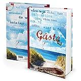maritmes Rojo Azul Libro de visitas invitados para vacaciones Pension Hotel en DIN A4Hard Cover 164páginas también para invitados Internacional libro del Mar Báltico Sylt Norderney.