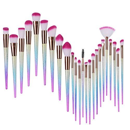 24pcs Pinceaux Maquillage Cosmétique Professionnel Brush Beauté Maquillage Brosse pour liquide Poudre crème Fusion de fond de teint Concealer Eye visage Synthétique Pinceaux de maquillage