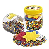 Hama Beads 4,000 Beads and Pegboard Tub, Yellow