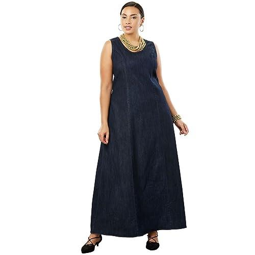 d96f450791 Jessica London Women s Plus Size Denim Maxi Dress