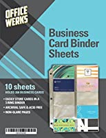 Business Card Sheet Protectors, Refill Sheets for 3 Ring Binder, 10 Pack, Clear, 20 Cards Per Sheet [並行輸入品]