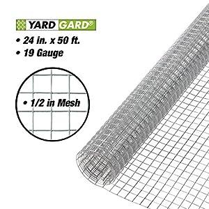 YARDGARD 308199B 24-Inch x 50-Foot 1/2-Inch Galvanized Mesh Hardware Cloth