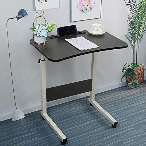 Mobile Computer Stand Desk Height-adjustable Mobile Computer Desk Desk Suitable For Laptops Ergonomically Designed Bedside Lift for Living Room Bedroom Balcony ( Color : Black , Size : 40x60cm )