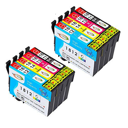 Win-tinten 8 pack di ricambio per Epson T18XL T1811 T1812 T1813 T1814 cartuccia d'inchiostro compatibile per Epson Expression Home XP-425 XP-422 XP-415 XP-412 XP-325 XP-322 XP-315 XP-312
