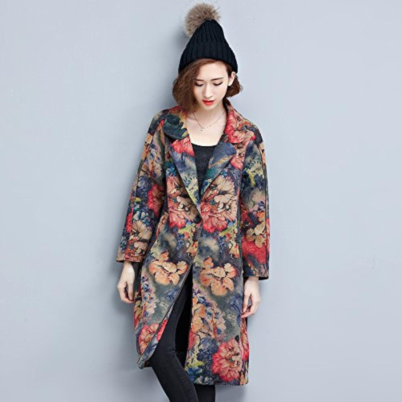 Xuanku Die In Langen Langen Langen Blaumen Wildleder Wind Jacket Mantel Weiblichen Anzug Rekonstruiert B0755VMWF7  Hohe Qualität a3fe0d