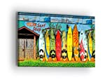 Image of Venice Surfshop Hawaii Canvas Wall Art - Professional Quality Print Gallery Wrap Modern Home Decor - Ready to Hang - Made in USA