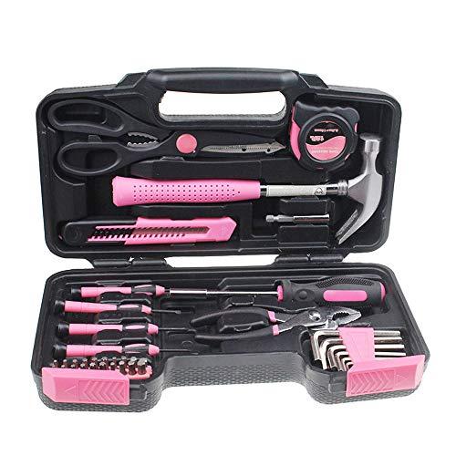 BIGMALL Werkzeugset Werkzeugkoffer 39-teilig Home & Garage Werkzeugset Universal Reparatur Werkzeugset mit Kunststoff Werkzeugkoffer Aufbewahrungskoffer