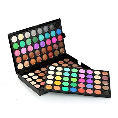 MagiDeal Lidschatten Palette - Profi Augenpalette mit 120 Farben Eyeshadow Makeup Palette für natürlich Naked Nude Bronze Schimmer oder für Smokey Eyeshadow Makeup