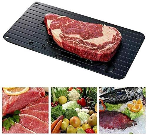 FDHDF Fast-Food-Abtauung Antihaft-Plattenablage Schnell-Abtauplatte Fleisch-Abtauung Gefroren für Metall Aluminium-Abtauwerkzeug Sicherste Keine Elektrizität 23X16Cm