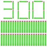 300Pcs Fléchettes Ventouse - Foxom 7.2*1.3cm Standard Balle en Mosse Darts pour Nerf N-strike Elite Rebelle Zombie Pistolet Jouet - Jeux de Plein Air (Vert)