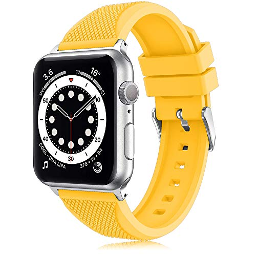 TOPsic Correa para Apple Watch Correa 38mm 40mm 42mm 44mm, Reemplazo Correa Silicona de Sport Banda para iWatch Correa Series 5 4 3 2 1
