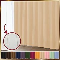 窓美人 1級遮光カーテン&UV・遮像レースカーテン 各1枚 幅150×丈190(188)cm クリームベージュ+クリームベージュ 断熱 遮熱 防音 紫外線カット