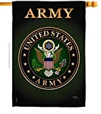 Breeze Decor Army House Flag Armed Forces Rangers United State American Military Veteran Retire Official Decoration Banner Small Garden Yard Gift Double-Sided, 28'x 40', Made in USA