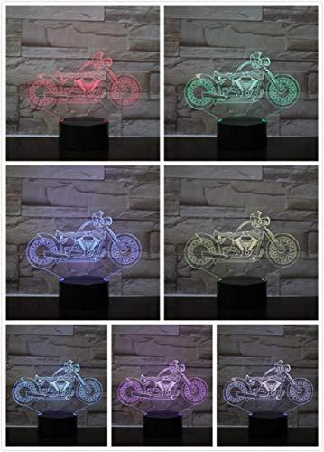 Nachtlampje Sfeervolle Motorfiets-afstandsbediening Van Klassieke Kwaliteit Klein Nachtlampje 7 Kleuren Touch Optische Foto Tafel Decoratie Lamp, Geschikt Voor Slaapkamer Bar Sfeerlamp