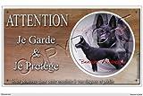 Pets-Easy.com Panneau chien ou plaque Berger-Allemand-Noir 30 cm