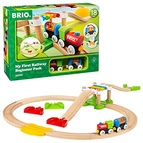 BRIO (ブリオ) レールウェイ マイファースト ビギナーセット [ 木製レール おもちゃ ] 33727