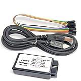 Analizador lógico USB 24M 8CH Microcontroller ARM FPGA Debug Tool 24MHz, 16MHz, 12MHz, 8MHz, 4MHz, 2MHz