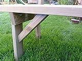 Platan Room Gartengarnitur Holz Kiefer Sitzgruppe 180 cm breit Gartenbank Gartentisch massiv Imprägniert - 7