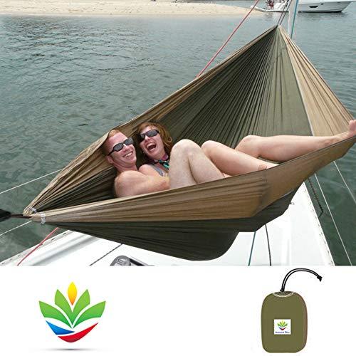 Hangmat Bliss Double - Extra Grote Draagbare Hangmat - Ideaal voor Camping, Rugzakken, kajakken & Reizen - 100