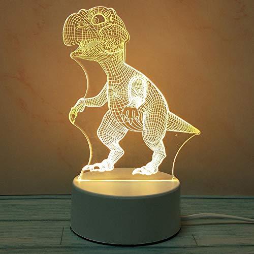 Nachtlampje 3D slaapkamer nachtbed baby slapen 's nachts warm licht kleine lamp mini droom plug-in verjaardag vakantiegeschenk-dinosaurus