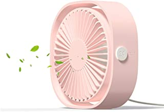 USB Table Fan Portable Mini Personal Desk Fan with 360 Rotation and Adjustable 3 Speed for Office, Travel