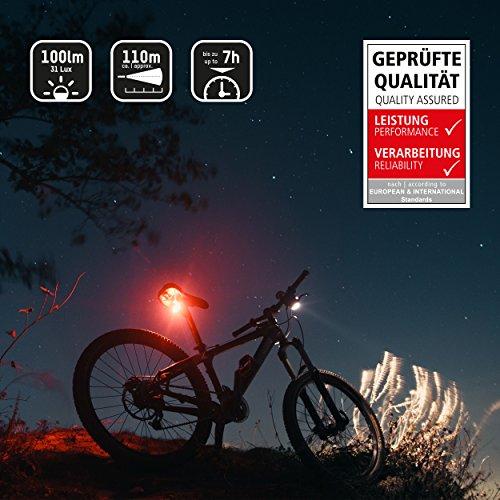 ANSMANN LiteRider StVZO Fahrradlicht LED Beleuchtungsset mit Frontlicht & Rücklicht – Fahrradlampe batteriebetrieben – zugelassen & abnehmbar – Beleuchtung für Fahrrad, Mountainbike, eBike, Rennrad - 4