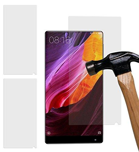 yayago 2er Set Displayschutzglas 0,26 MM Displayschutzfolie für Xiaomi Mi Mix Glasfolie Hartglas 9H (bewusst Kleiner als das Display, da Dieses gewölbt ist)