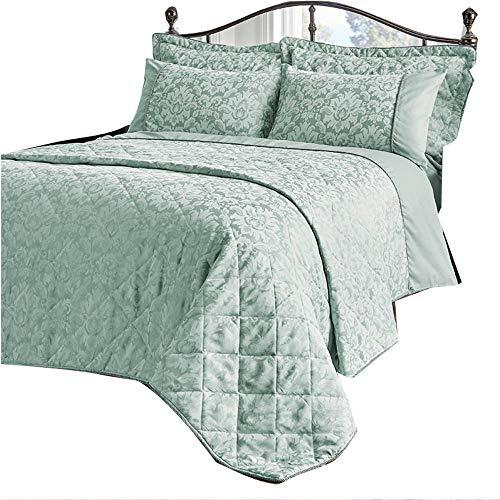 dl JacquardSavoyDuvet Cover Set King Size Bedding Quilt - Duckegg